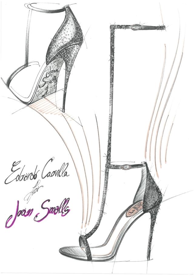 Joan Smalls René Caovilla Sketch