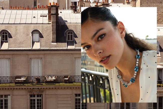 عقد La Reine مرصّع بالزبرجد الأزرق والألماس