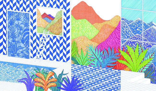 Wallpaper - Tropical Swim