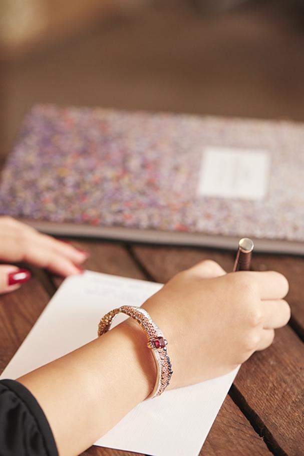 سوار Soie Dior Tresse Rubis من Dior High Jewellery