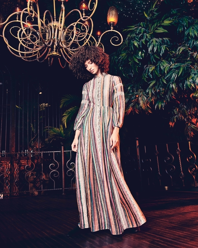 فستان طويل متعدّد الألوانمن Dior