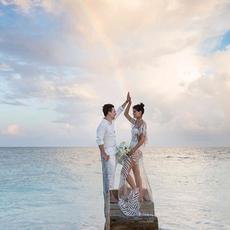 زفاف حالم على الشاطئ