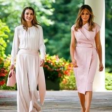هل خطفت الملكة رانيا الأنظار من Melania Trump؟