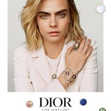 Cara Delevinge وجه Dior الجديد
