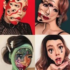 فنانة مكياج تحول وجهها إلى لوحات سريالية فنية